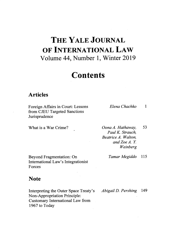 handle is hein.journals/yjil44 and id is 1 raw text is: 