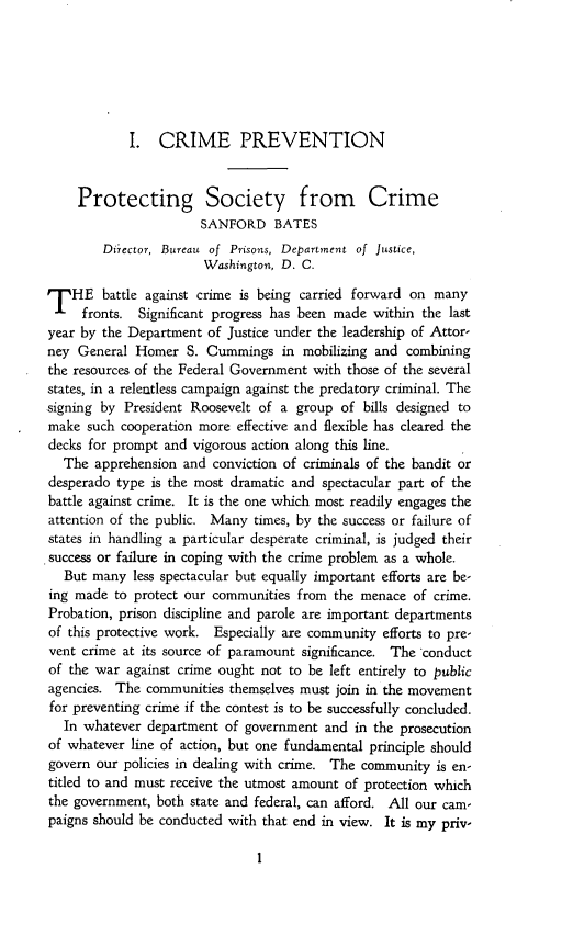 handle is hein.journals/yrbok18 and id is 7 raw text is: I. CRIME PREVENTION