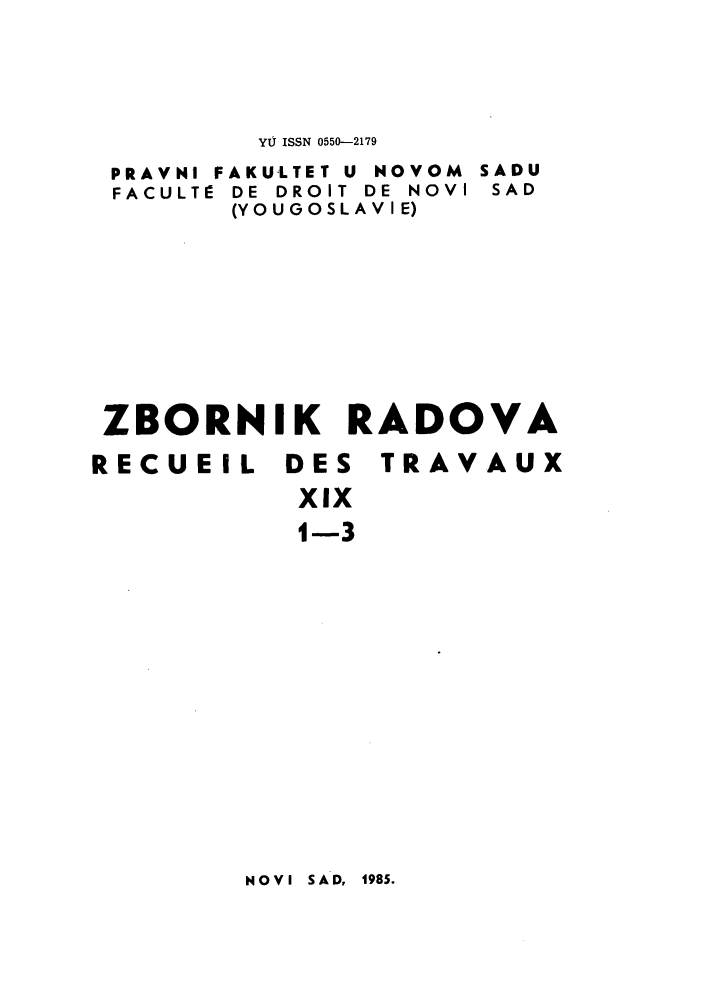 handle is hein.journals/zborrado26 and id is 1 raw text is: YU ISSN 0550-2179