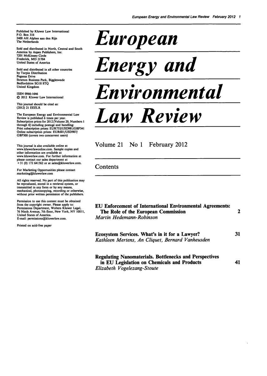 enforcement of european union environmental law hedemann robinson martin