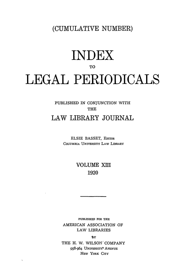 handle is hein.lbr/ilpera0013 and id is 1 raw text is: (CUMULATIVE NUMBER)