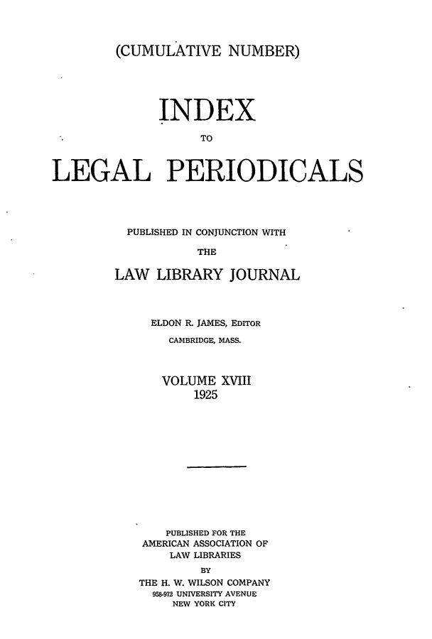 handle is hein.lbr/ilpera0018 and id is 1 raw text is: (CUMULATIVE NUMBER)