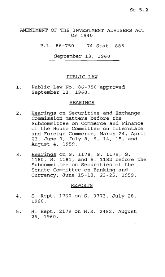 handle is hein.leghis/ainva0001 and id is 1 raw text is: Se 5.2