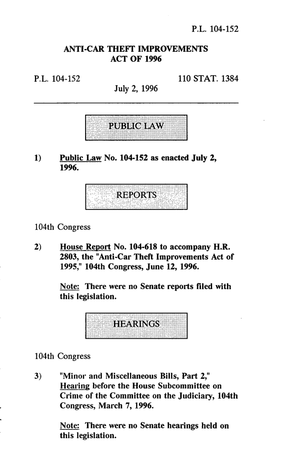 handle is hein.leghis/anctia0001 and id is 1 raw text is: P.L. 104-152
