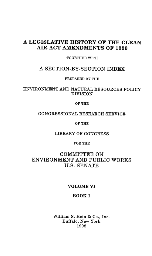 handle is hein.leghis/caa0006 and id is 1 raw text is: A LEGISLATIVE HISTORY OF THE CLEAN