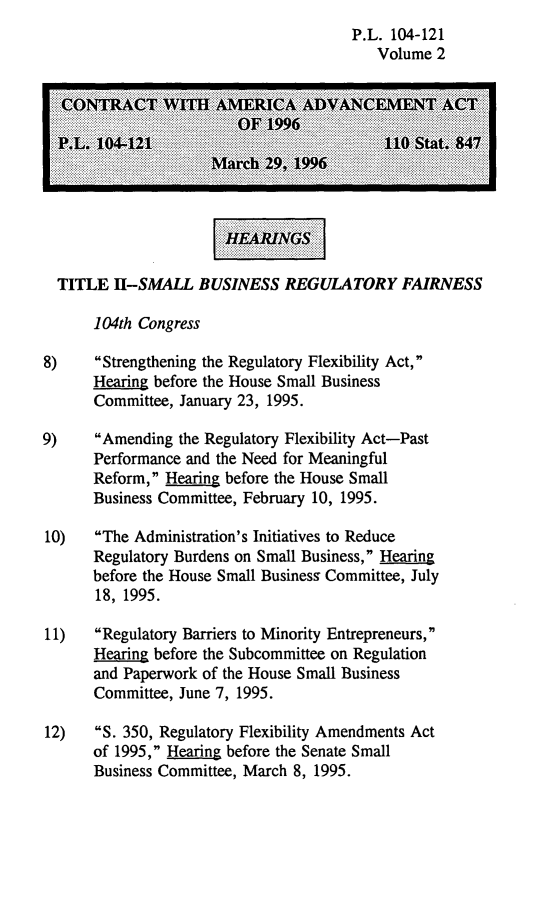 handle is hein.leghis/camaa0002 and id is 1 raw text is: P.L. 104-121