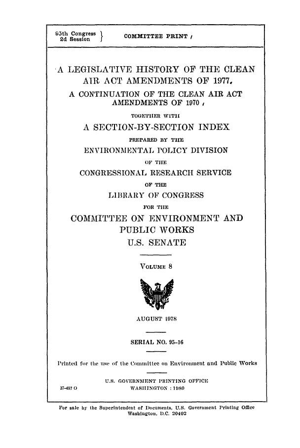 handle is hein.leghis/cleanair0008 and id is 1 raw text is: 9th2d Sessiongress  COMMITTEE PRINT