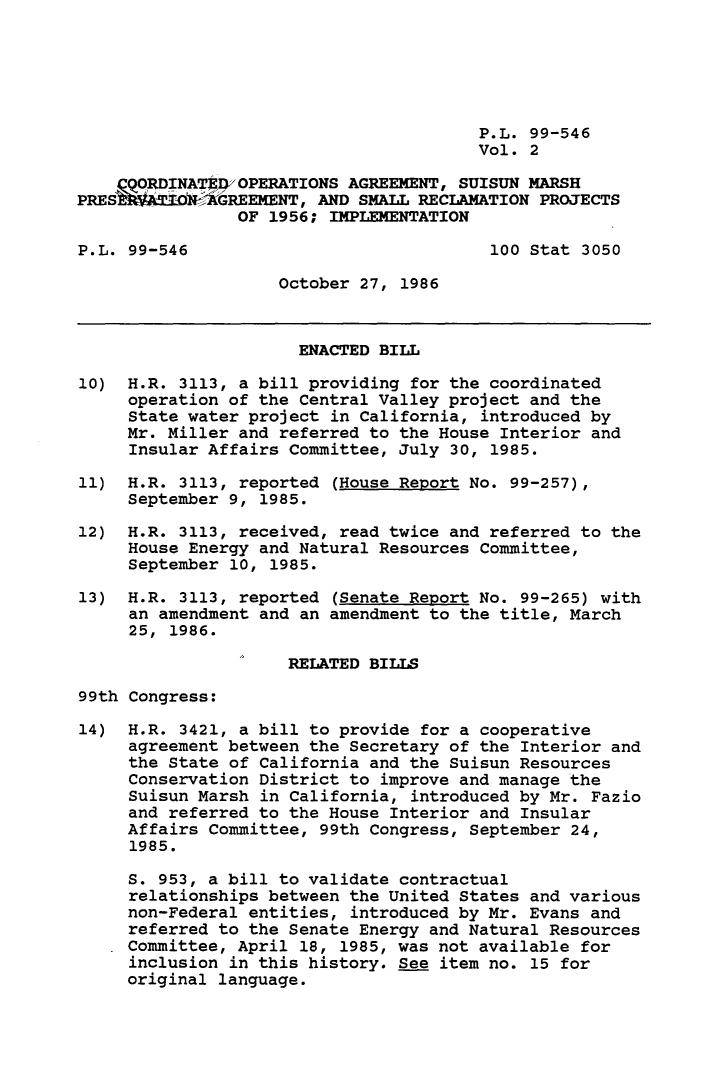 Legislative History Of Coordinated Operations Agreement Suison