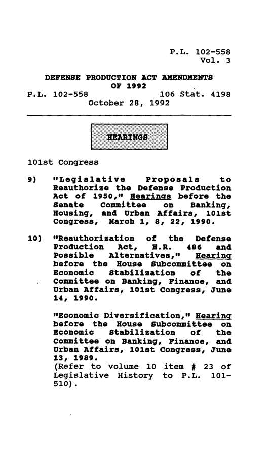 handle is hein.leghis/depraa0003 and id is 1 raw text is: P.L. 102-558