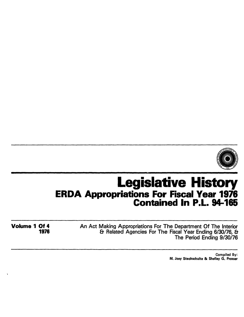 handle is hein.leghis/erdafisca0001 and id is 1 raw text is: Legislative History