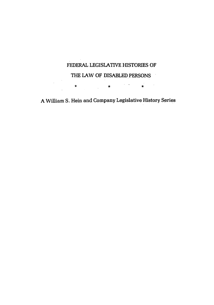 handle is hein.leghis/felamenh0016 and id is 1 raw text is: FEDERAL LEGISLATIVE HISTORIES OF