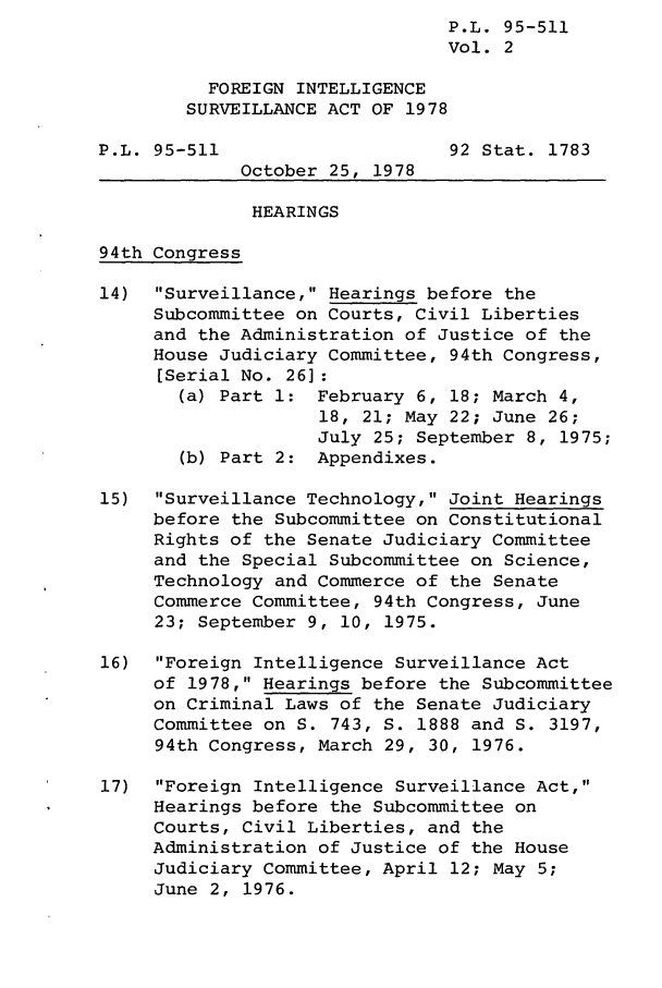 handle is hein.leghis/finsura0002 and id is 1 raw text is:                                 P.L. 95-511