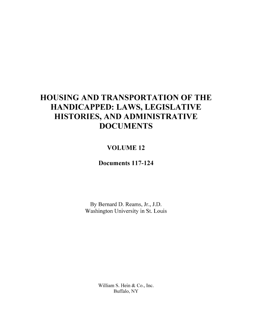 handle is hein.leghis/hothand0012 and id is 1 raw text is: HOUSING AND TRANSPORTATION OF THE