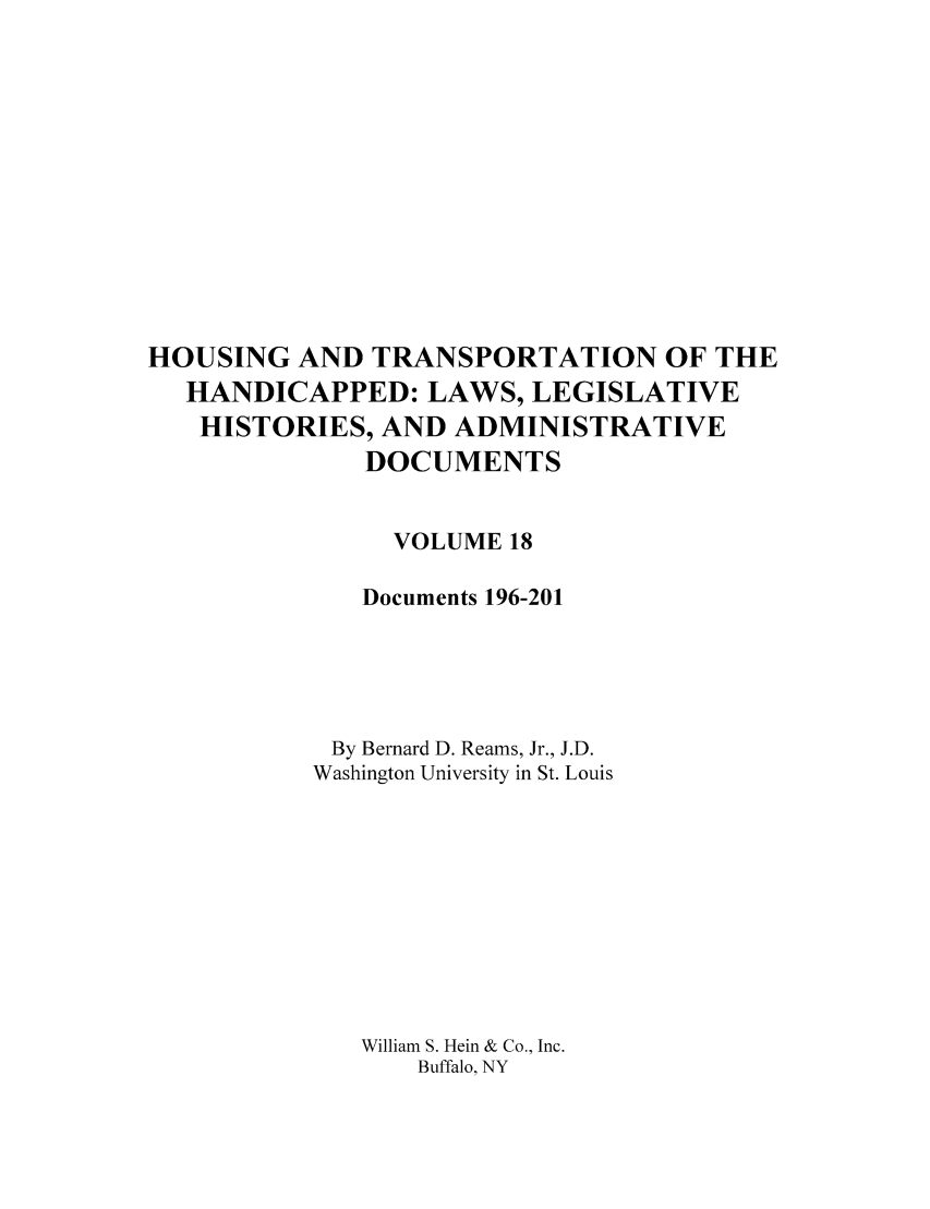 handle is hein.leghis/hothand0018 and id is 1 raw text is: HOUSING AND TRANSPORTATION OF THE