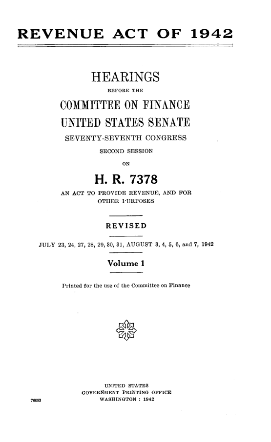 handle is hein.leghis/lhenut0004 and id is 1 raw text is: REVENUE ACT OF 1942