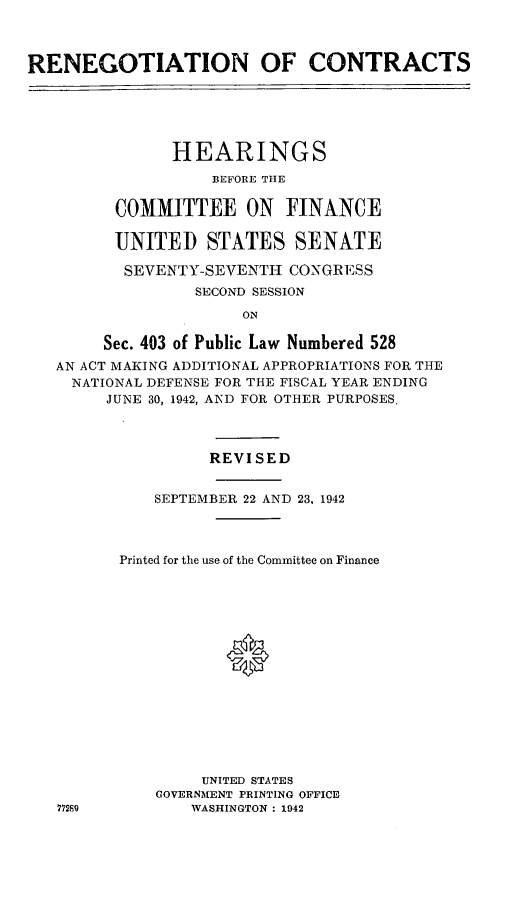 handle is hein.leghis/lhenut0006 and id is 1 raw text is: RENEGOTIATION OF CONTRACTS