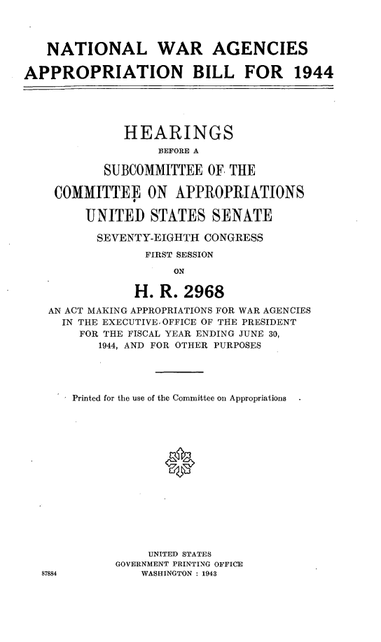 handle is hein.leghis/lorwaragtp0002 and id is 1 raw text is: NATIONAL WAR AGENCIES