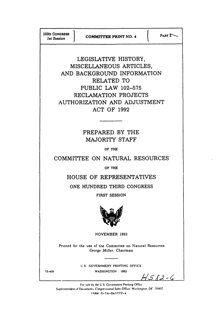 handle is hein.leghis/misbackinfo0002 and id is 1 raw text is: 103D CONRESS