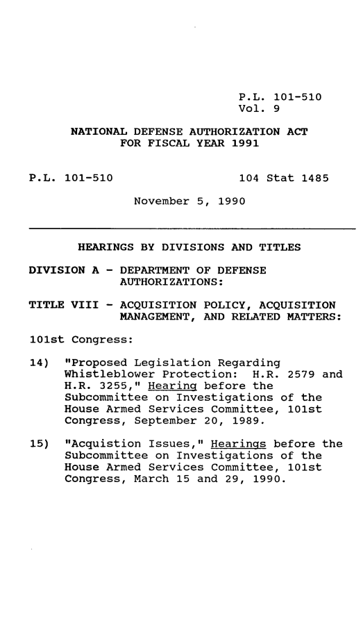handle is hein.leghis/ntdfs0009 and id is 1 raw text is: P.L. 101-510