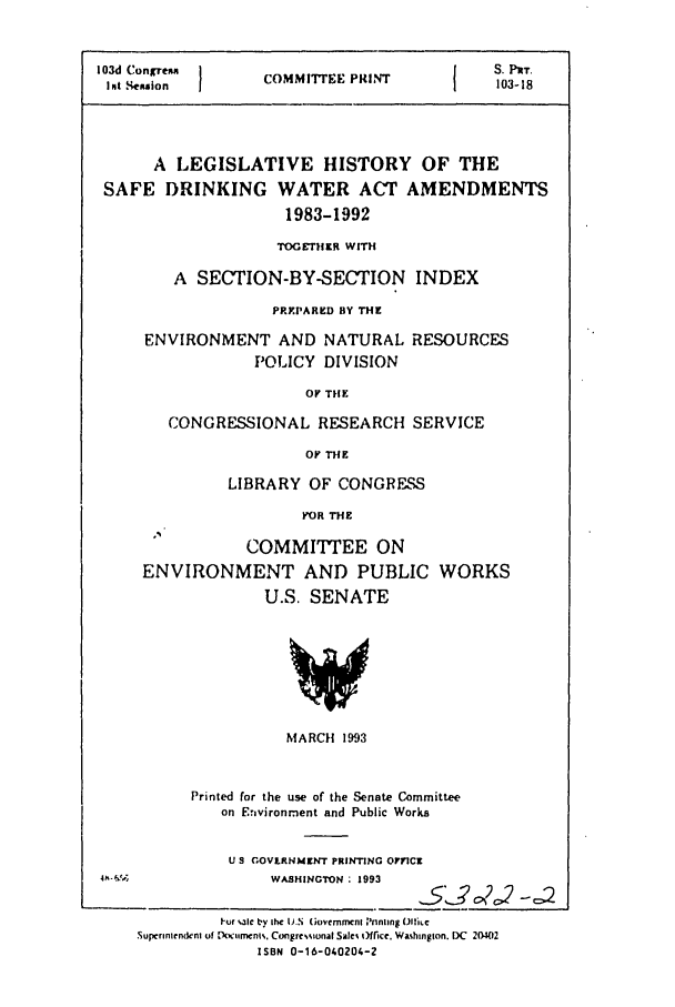 handle is hein.leghis/safedwata0001 and id is 1 raw text is: 103d Congrean     COMM {E PlEN           S. PrT.