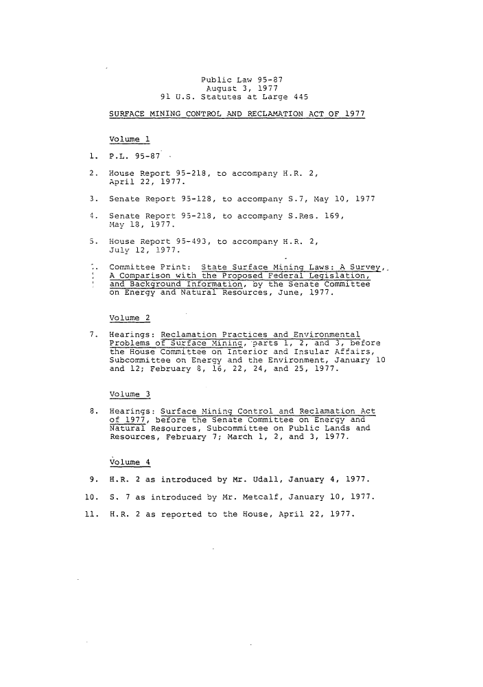 handle is hein.leghis/sumicre0002 and id is 1 raw text is: Public Law 95-87