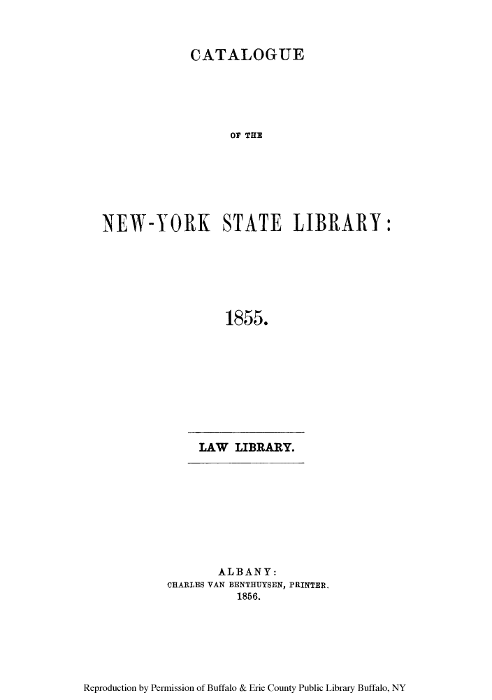Catalogue of the New-York State Library V  1