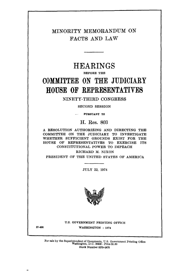 handle is hein.presidents/minmemfa0001 and id is 1 raw text is: MINORITY MEMORANDUM ON