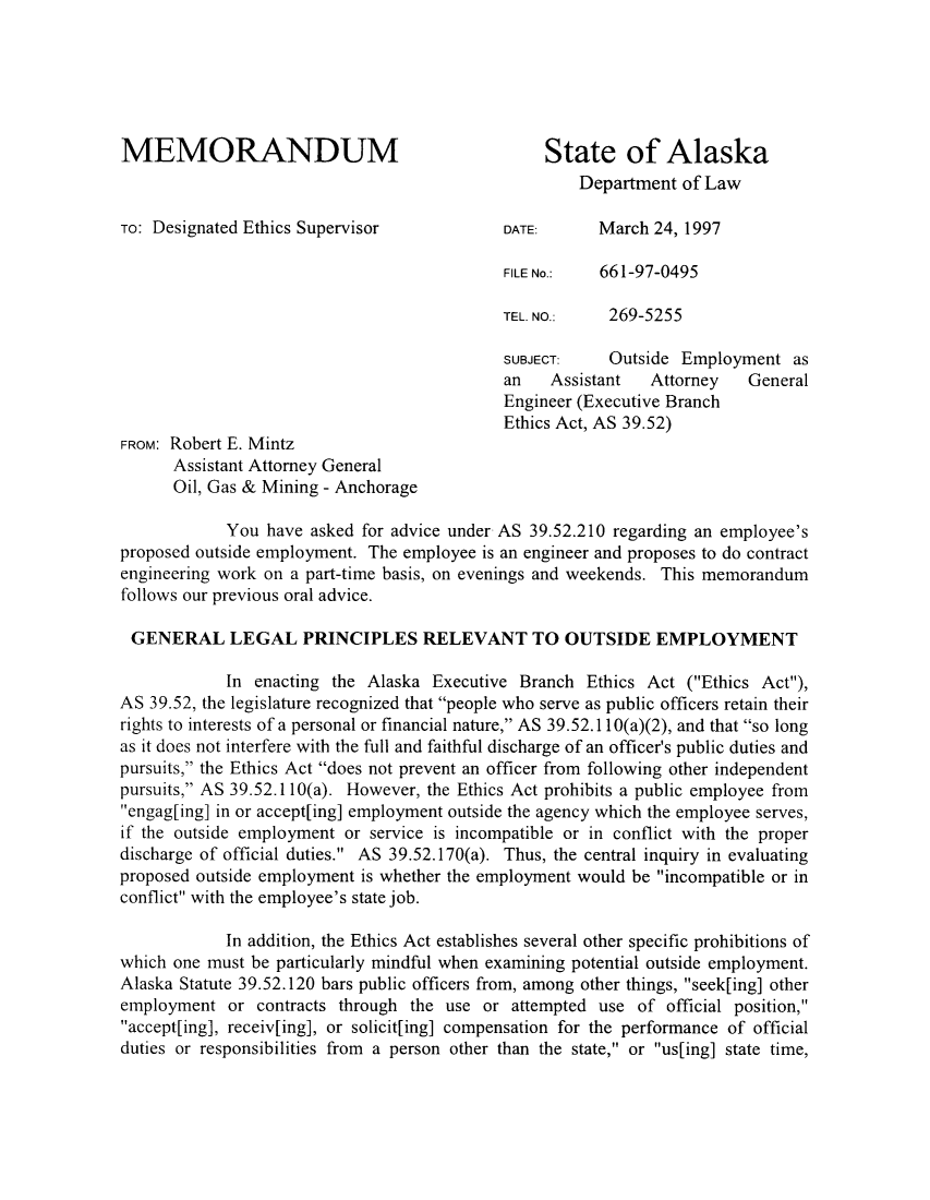 handle is hein.sag/sagak0002 and id is 1 raw text is: MEMORANDUM                                    State of Alaska