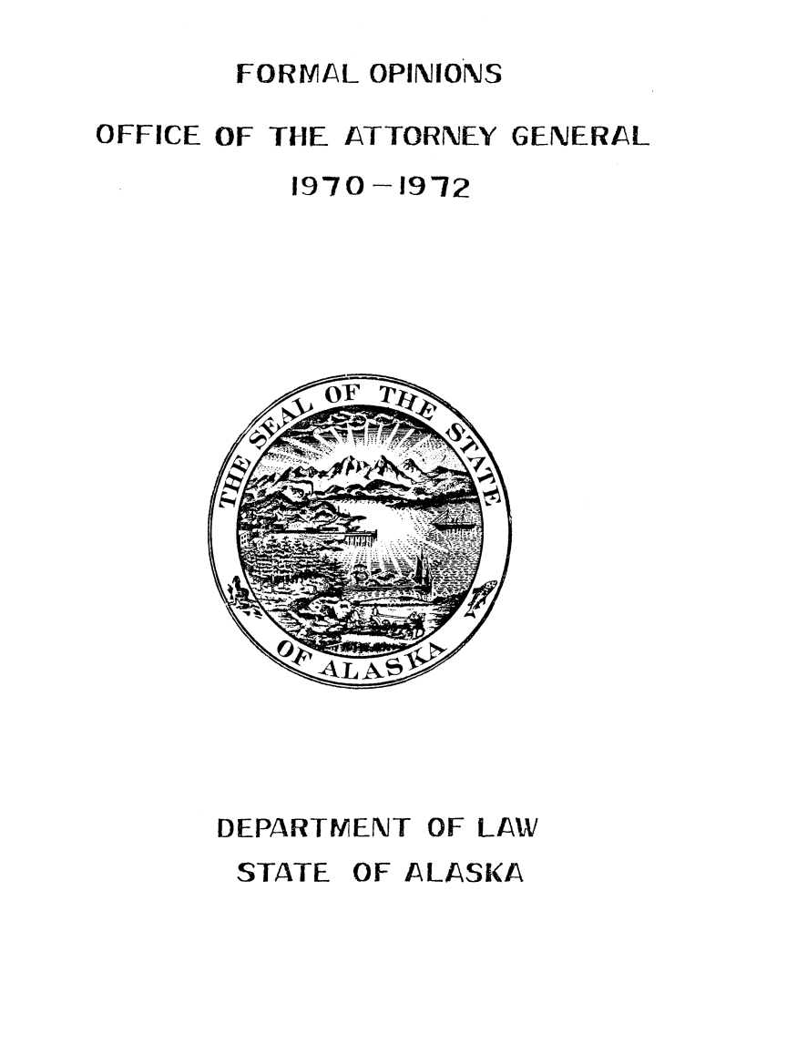 handle is hein.sag/sagak1970 and id is 1 raw text is: FORMAL OPINIONS