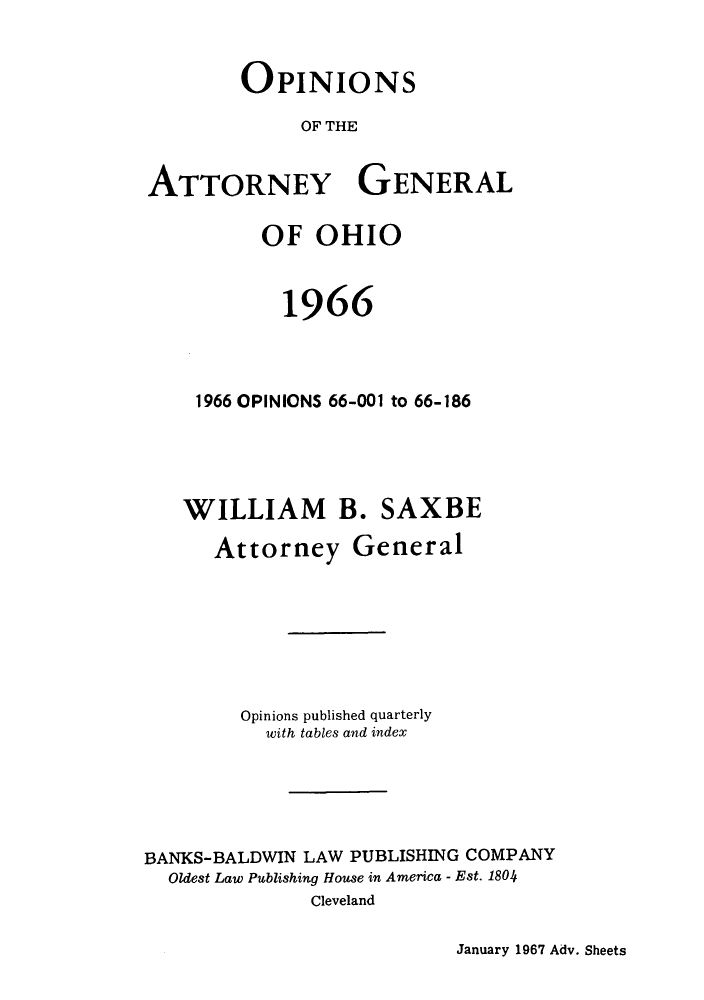 handle is hein.sag/sagoh0049 and id is 1 raw text is: OPINIONS