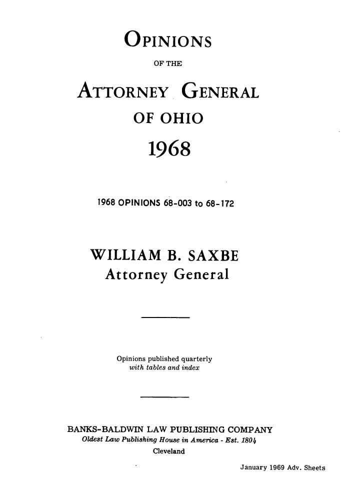 handle is hein.sag/sagoh0051 and id is 1 raw text is: OPINIONS