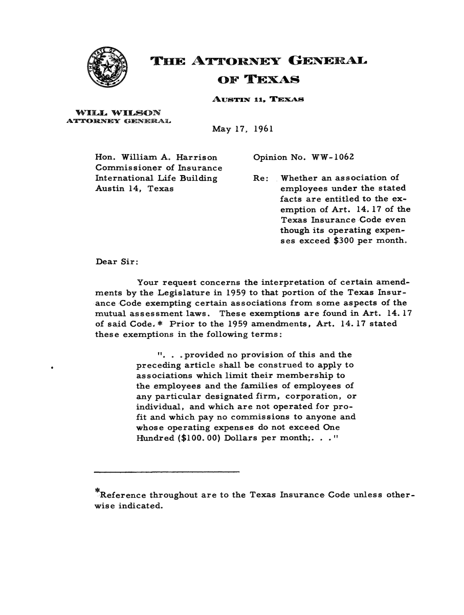 handle is hein.sag/sagtx0097 and id is 1 raw text is: THE ATTORNEY GENERAL