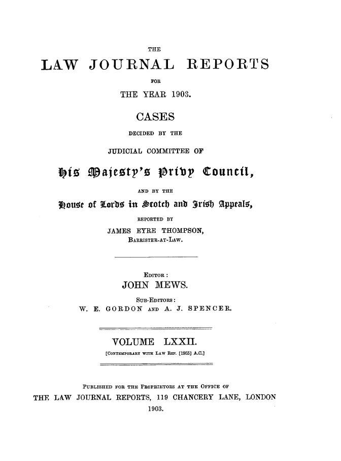 handle is hein.selden/lawjrnl0003 and id is 1 raw text is: 