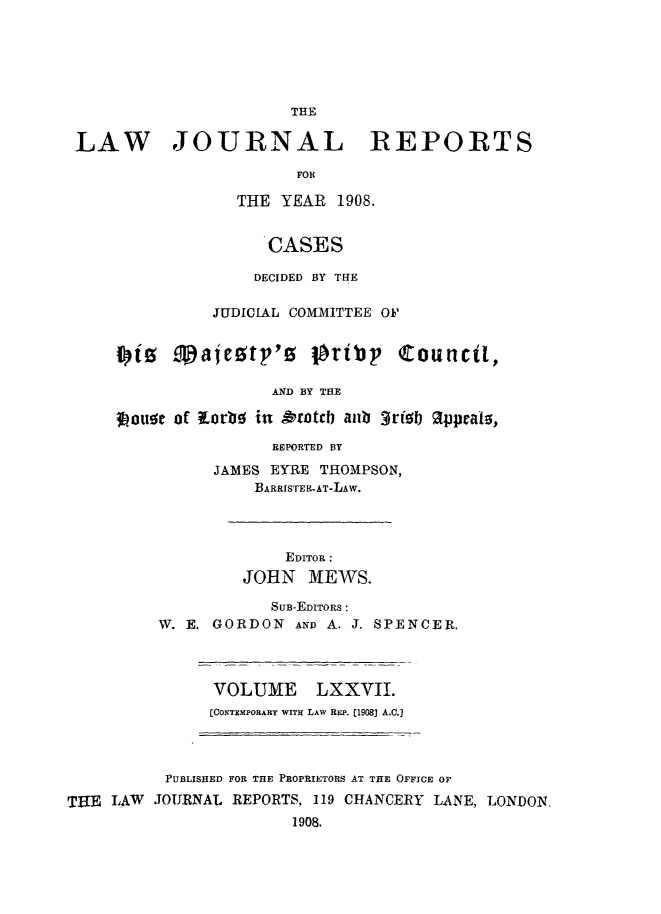 handle is hein.selden/lawjrnl0023 and id is 1 raw text is: 