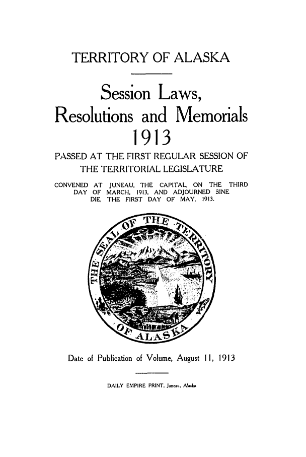 handle is hein.ssl/ssak0057 and id is 1 raw text is: TERRITORY OF ALASKA