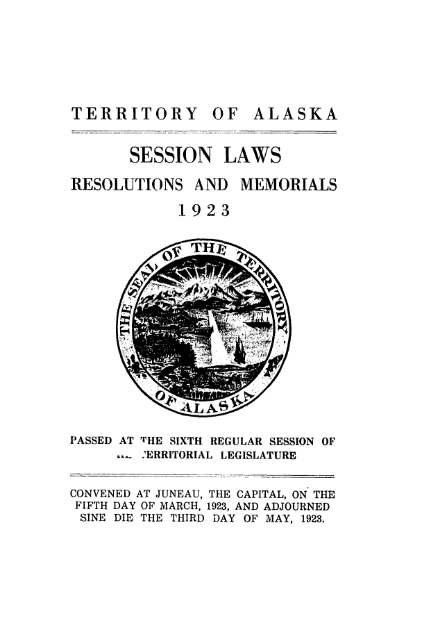 handle is hein.ssl/ssak0062 and id is 1 raw text is: TERRITORY OF