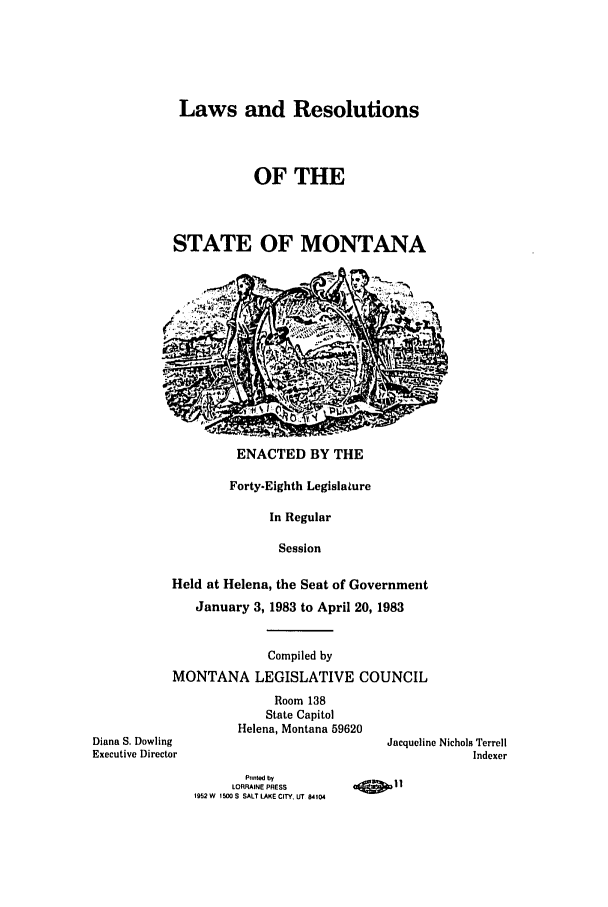 handle is hein.ssl/ssmt0046 and id is 1 raw text is: Laws and Resolutions