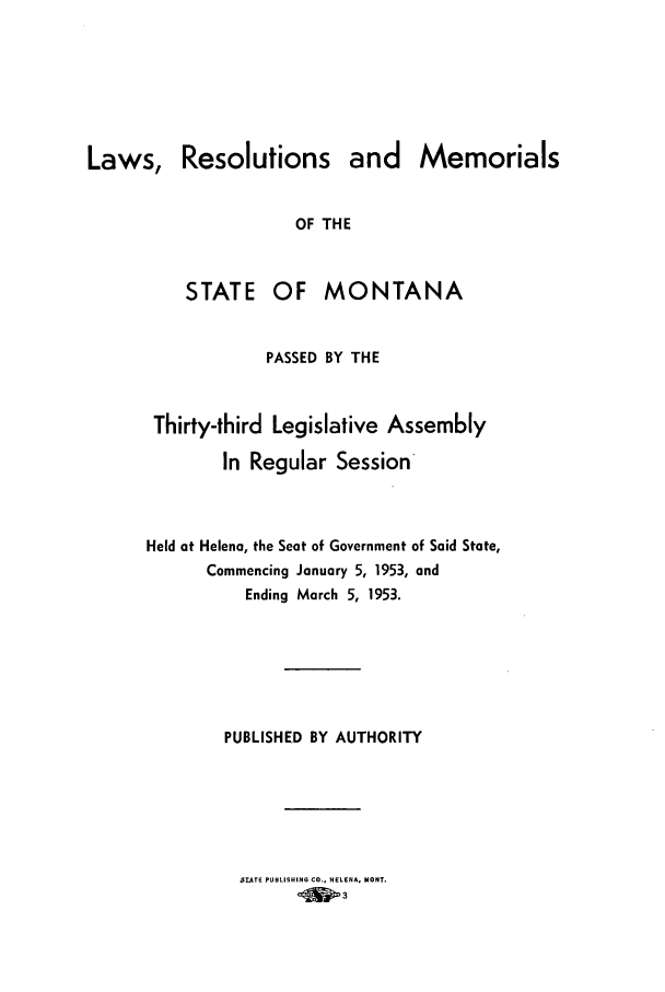 handle is hein.ssl/ssmt0056 and id is 1 raw text is: Laws, Resolutions and Memorials