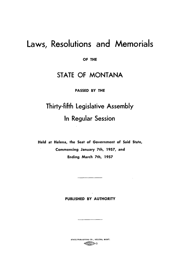 handle is hein.ssl/ssmt0058 and id is 1 raw text is: Laws, Resolutions and Memorials