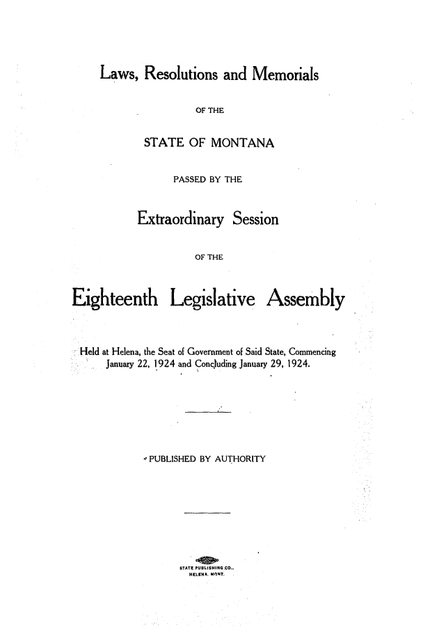 handle is hein.ssl/ssmt0120 and id is 1 raw text is: Laws, Resolutions and Memorials