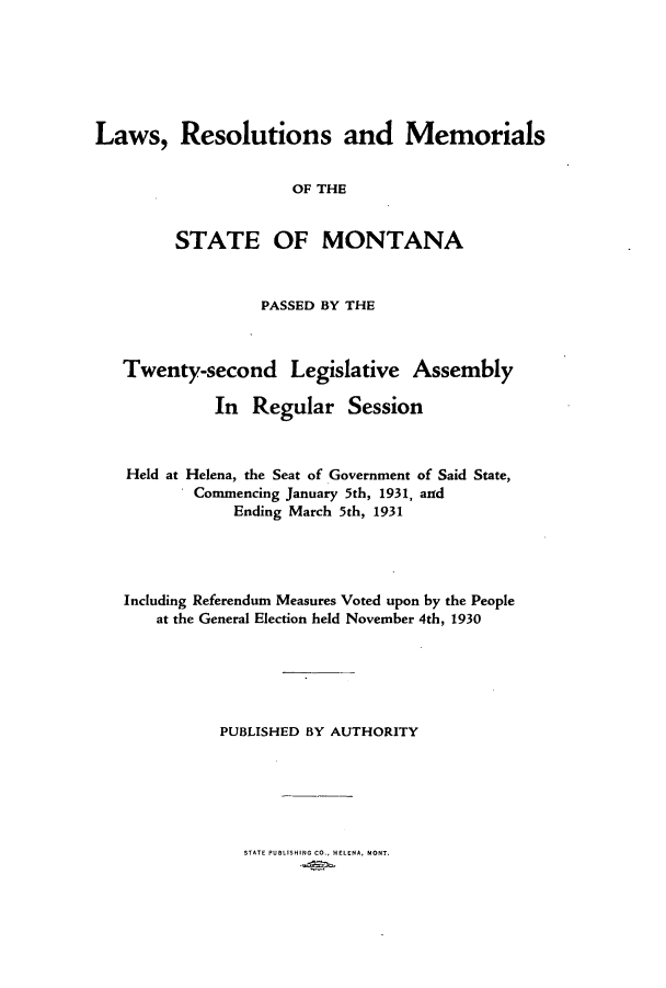 handle is hein.ssl/ssmt0124 and id is 1 raw text is: Laws, Resolutions and Memorials