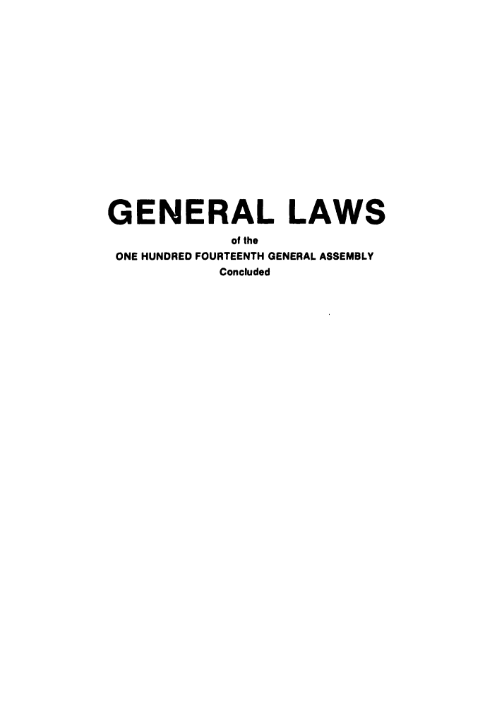 handle is hein.ssl/ssoh0098 and id is 1 raw text is: GENERAL LAWS