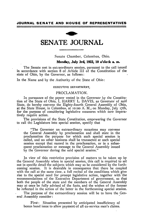 handle is hein.ssl/ssoh0257 and id is 1 raw text is: JOURNAL SENATE AND HOUSE OF REPRESENTATIVES