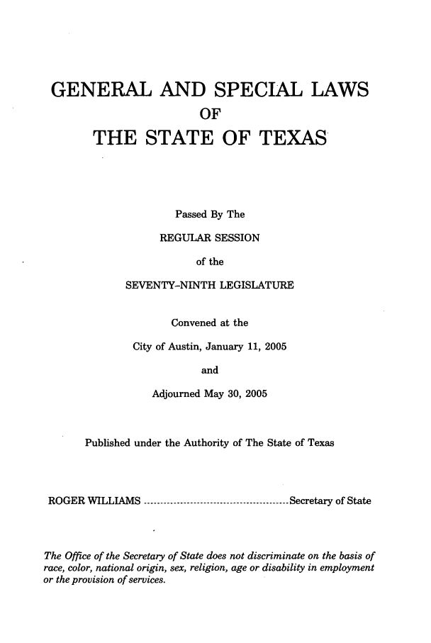 handle is hein.ssl/sstx0017 and id is 1 raw text is: GENERAL AND SPECIAL LAWS
