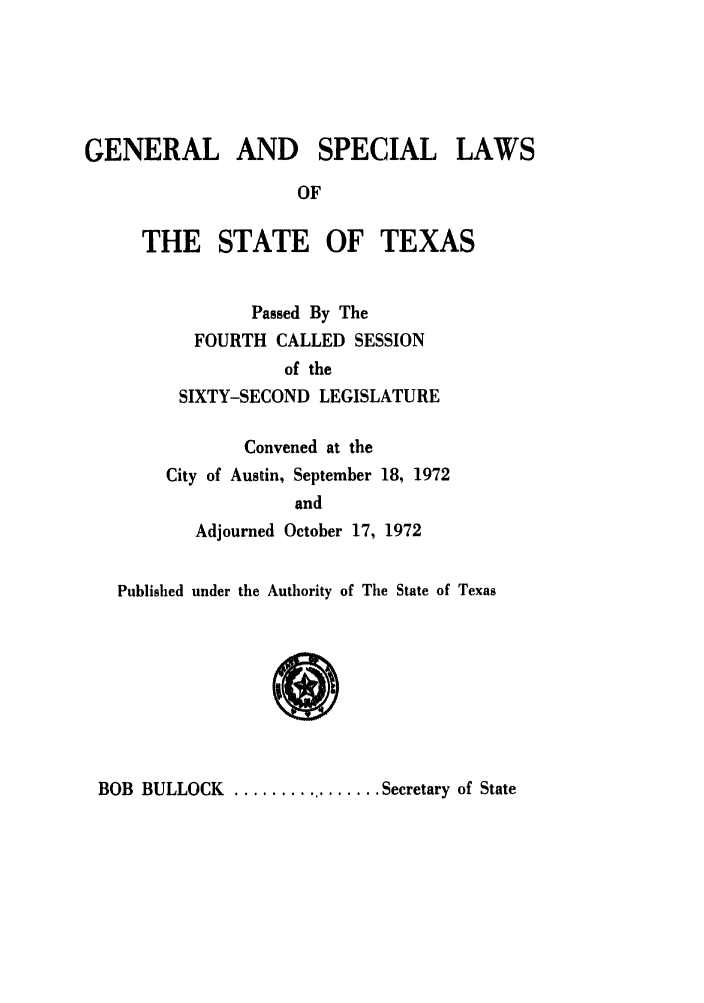 handle is hein.ssl/sstx0065 and id is 1 raw text is: GENERAL AND SPECIAL LAWS