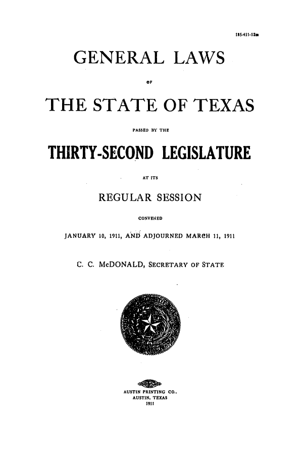 handle is hein.ssl/sstx0083 and id is 1 raw text is: 185.411-12m