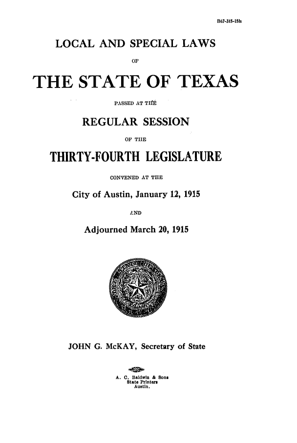 handle is hein.ssl/sstx0091 and id is 1 raw text is: B67-315-15h