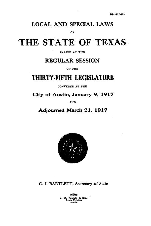 handle is hein.ssl/sstx0094 and id is 1 raw text is: B84-417-15h