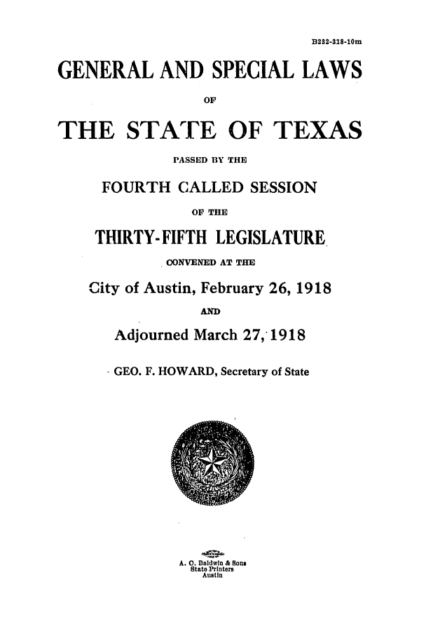 handle is hein.ssl/sstx0097 and id is 1 raw text is: B232-S18-10m