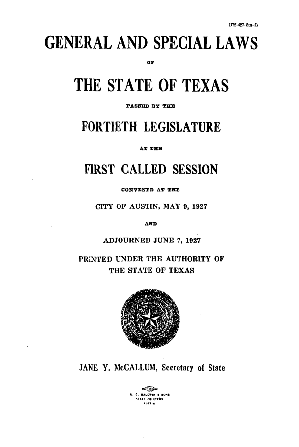 handle is hein.ssl/sstx0116 and id is 1 raw text is: B72-027-8m-L